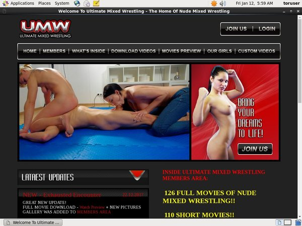 Ultimate Mixed Wrestling Special Deal