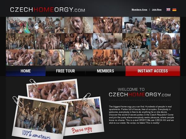 Free Czech Home Orgy Member
