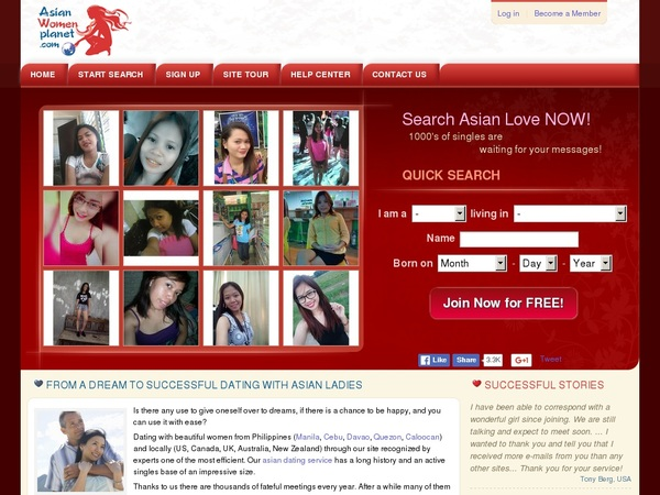 Register Asian Women Planet