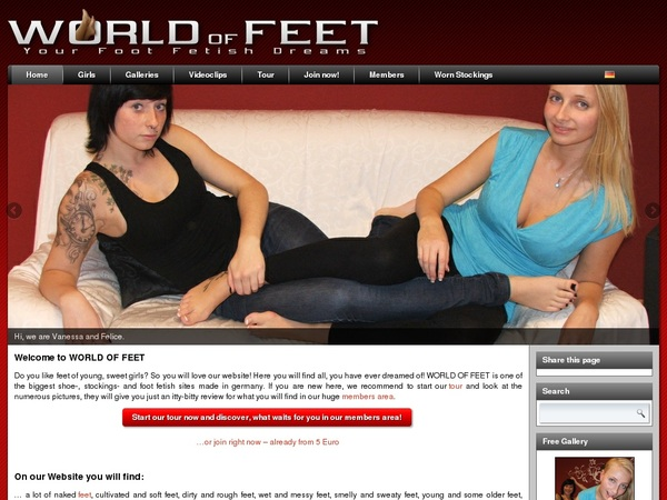 New Worldoffeet Accounts