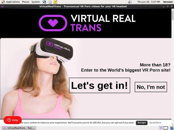 Virtual Real Trans Member Sign Up