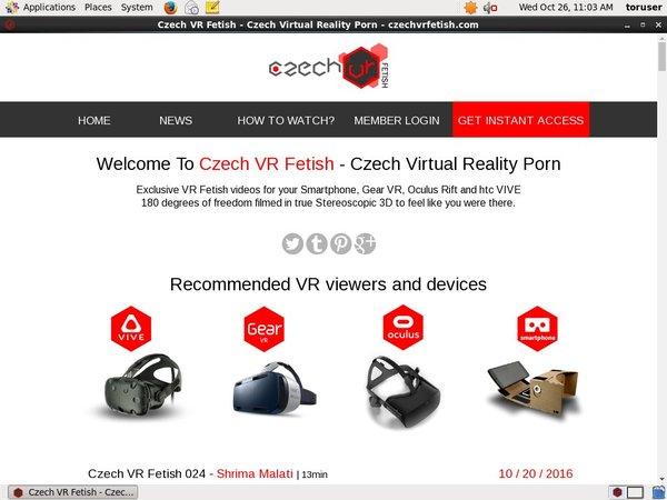 Czech VR Fetish New Password